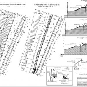 Thuyết Minh + CAD thiết kế kè Bảo Vệ Bờ sông, Hồ điều tiết