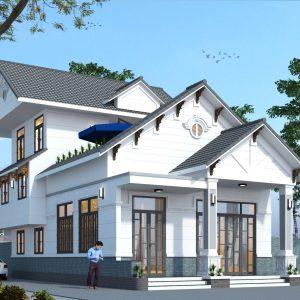 [Full] kiến trúc – kết cấu - sketchup nhà mặt phố 2 tầng 8.8x8.0m